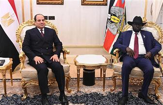 ننشر نص كلمة الرئيس السيسي خلال مؤتمر صحفي مشترك مع سلفا كير في ختام مباحثاتهما | صور