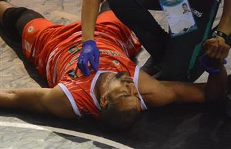 إصابة لاعب منتخب المغرب لكرة السلة بارتجاج في تصفيات إفريقيا   صور