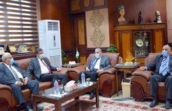 رئيس البنك الزراعي يبحث مع محافظ المنيا التعاون في مشروعات التنمية | صور
