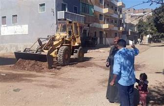 حملة لإزالة تعديات في المهد على أراضي أملاك الدولة بمدينة الطود في الأقصر| صور