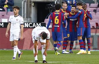 برشلونة يقسو على أوساسونا برباعية.. وميسي يكرم مارادونا على طريقته