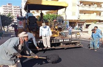 محافظ مطروح: رصف شوارع منطقة الروضة بعد تنفيذ البنية الأساسية بها| صور