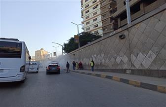 النشرة المرورية.. كثافات متوسطة بالقاهرة واشتعال النيران في سيارة بنفق الهرم  صور