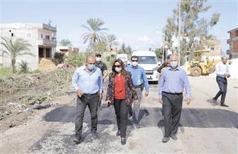 محافظ دمياط تتابع عمليات ترميم طريق الإبراهيمية وأعمال جسور طريق 18 بمركز كفر سعد | صور