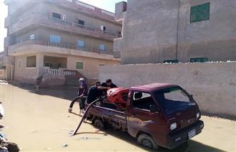 مدينة مرسي مطروح: رفع مياه الأمطار على الطريق الدولي | صور