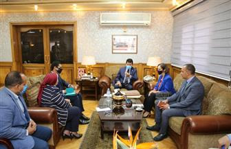 وزير الشباب يلتقي رئيس اللجنة الوطنية لمكافحة الهجرة غير الشرعية| صور