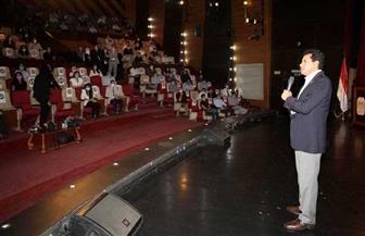 وزير الشباب والرياضة يحفز المتطوعين المرشحين للبرنامج التدريبي لبطولة العالم لكرة اليد| صور