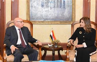 """وزيرة الهجرة تستعرض مع """"خطابي"""" جهود الوزارة بالاستحقاقات الدستورية وملف المصريين بالخارج"""