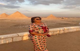 حرم رئيس الكونغو تزور منطقة آثار الهرم بالجيزة على هامش زيارتها مصر| صور