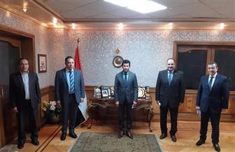 وزير الرياضة يستقبل المدير التنفيذي للوزارة عقب تعافيه من الكورونا