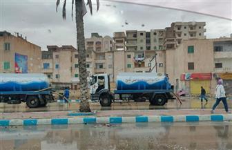 هطول أمطار غزيرة علي محافظة مطروح ومدن الساحل الشمالي