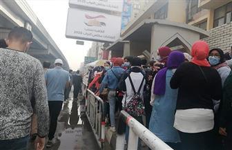 توافد الناخبين بكثافة على لجنة الجامعة العمالية في انتخابات «النواب» | فيديو وصور