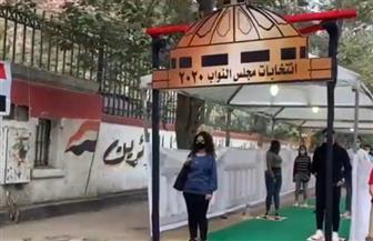 تزايد أعداد الناخبين أمام لجنة مدرسة الشهيد علي شوقي في المعادي | فيديو