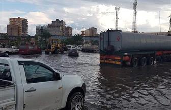 استمرت لثلاث ساعات.. هذا ما فعلته الأمطار الغزيرة بالإسكندرية   صور