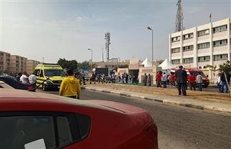 دوريات مستمرة لسيارات الإسعاف أمام مقار لجان انتخابات مجلس النواب في التجمع الخامس |صور