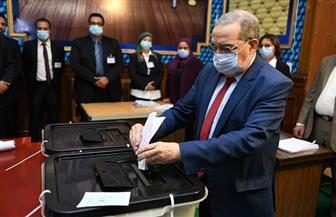 وزير الدولة للإنتاج الحربي يدلي بصوته في انتخابات مجلس النواب | صور
