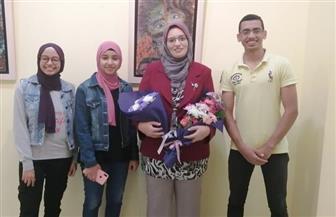 """""""كمال"""" طالب جامعة الطفل بالسويس يفوز بالذهبية الدولية """"الاليكسو""""   صور"""