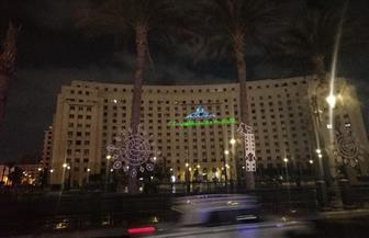 إضاءة وتزين مجمع التحرير بمناسبة انتخابات النواب| صور