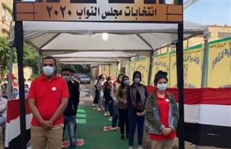 توافد المواطنين على لجان الانتخابات بمدرسة حدائق المعادي القومية | فيديو