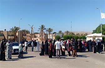 إقبال كبير من السيدات وكبار السن وذوي الاحتياجات الخاصة في انتخابات النواب بجنوب سيناء | صور