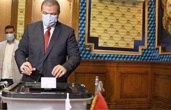 وزير القوى العاملة يدلي بصوته فى مدرسة مصطفى يسري عميرة بمصر الجديدة