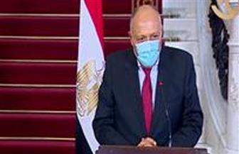 وزير الخارجية: الخط الأحمر الذى أعلنته مصر أدى إلى تهدئة المعارك في ليبيا
