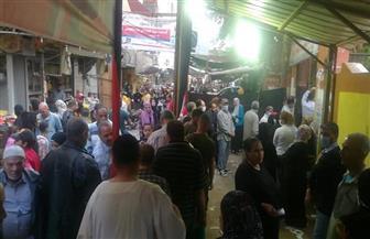 زحام أمام أبواب لجان المطرية بانتخابات النواب عقب انتهاء فترة الاستراحة  صور