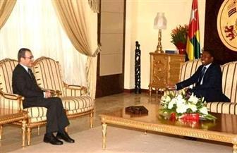 رئيس الجمهورية التوجولي يستقبل السفير المصري في ختام فترة عمله