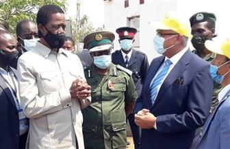 رفقة السفير المصري في لوساكا.. الرئيس الزامبي يتفقد مشروع المزرعة المصرية الزامبية المشتركة