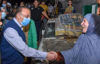 محافظ الإسكندرية يزور منطقة الشامي بعد غرقها في مياه الأمطار ويعد تقديم مساعدات عاجلة| صور