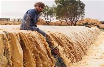 """""""بوابة الأهرام"""" ترصد فرحة بدو مطروح بقدوم السيول وهطول الأمطار  صور"""