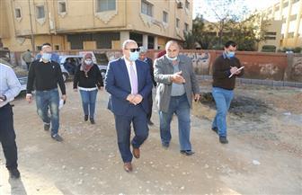 السكرتير العام لمحافظة المنوفية يتابع أعمال رصف عدد من الشوارع | صور