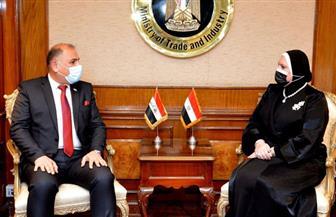 وزيرة التجارة: إتاحة كل الكوادر اللازمة لنقل التكنولوجيا والخبرات المصرية إلى الصناعة العراقية