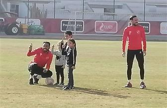 أبناء لاعبي الأهلى يحتفلون بالثلاثية التاريخية   صور
