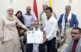 «عروس سيناء» تبصر من جديد.. دعم من الرئيس السيسي والمحافظ شاهدا على عقد القران وفرحة سيناوية   صور
