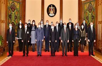 الرئيس السيسي: مصر لديها الجدية والإرادة القوية تجاه التعاون مع العراق| صور