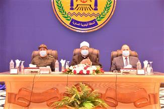 القوات المسلحة تنظم ندوة تثقيفية بمشاركة وزير الأوقاف بقيادة المنطقة الجنوبية العسكرية