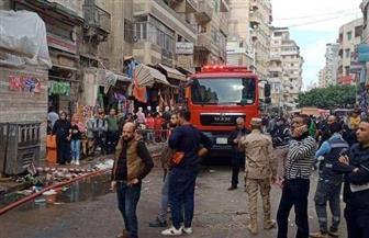 الحماية المدنية تسيطر على حريق بمخبز في منطقة باكوس شرق الإسكندرية   صور