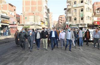 محافـظ المنوفية يتفقد أعمال رصف شارع بورسعيد بمركز الشهداء  صور وفيديو