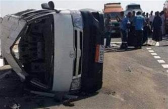 انقلاب سيارة ميكروباص على طريق «بنها- القناطر الخيرية»