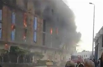 اندلاع حريق هائل داخل منطقة المخازن بميناء الإسكندرية