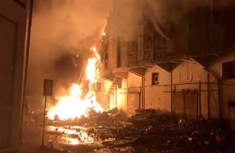 لقطات من حريق مخزن البضائع بميناء الإسكندرية | فيديو
