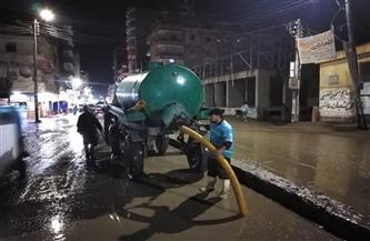 لمواجهة تداعيات سوء الطقس.. جهود مكثفة لرفع مياه الأمطار من شوارع كفر الشيخ | صور