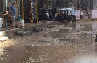 الأمطار تغرق الشوارع وتوقف الصيد في كفر الشيخ