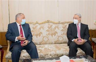 رئيس جامعة طنطا يستقبل الرئيس التنفيذي لوكالة الفضاء المصرية