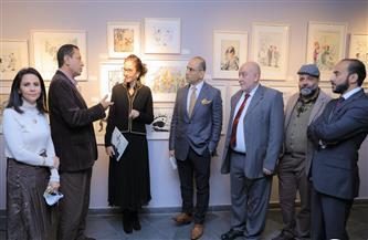 مكتبة الإسكندرية تفتتح المعرض الدائم «مختارات من فن الكاريكاتير»| صور