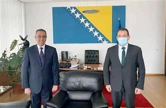 سفير مصر فى البوسنة والهرسك يلتقى وزير الأمن البوسنى