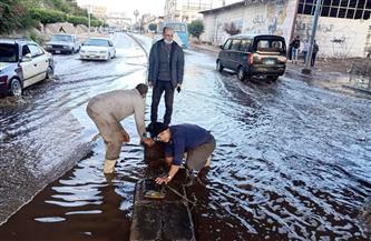 إزالة آثار الأمطار من مدينة طلخا بالدقهلية | صور