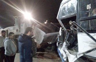 مصرع 7 مواطنين وإصابة 6 آخرين فى حادث تصادم أتوبيس ومكيروباص بسوهاج
