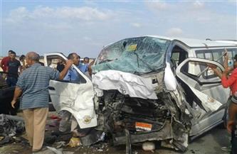 ننشر أسماء ضحايا حادث تصادم أتوبيس بميكروباص على الطريق الزراعي بسوهاج